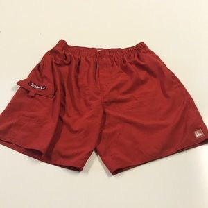 QUICKSILVER Mens Large Red Swimsuit Shorts